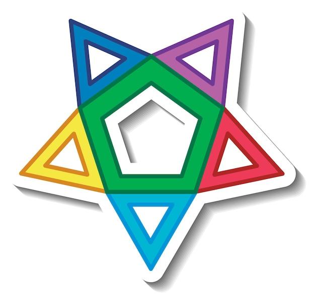 Geometrische form des sternpolygons