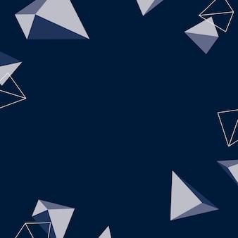 Geometrische form gemusterter blauer hintergrund