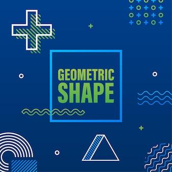Geometrische form im vintage-stil. grelle farbe. schwarzer abstrakter geometrischer hintergrund. lager illustration.