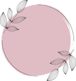 Geometrische form mit handzeichnung aquarellillustration