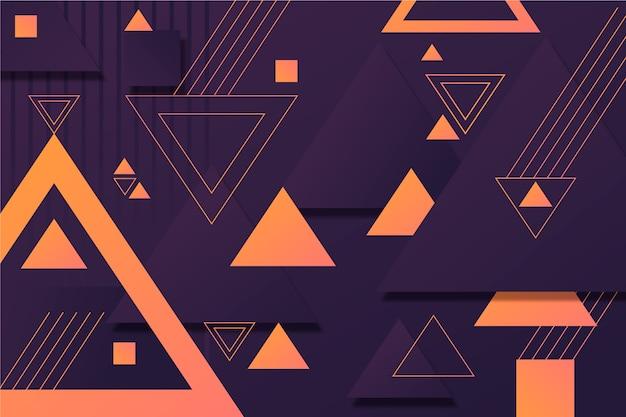 Geometrische formen auf dunklem hintergrund