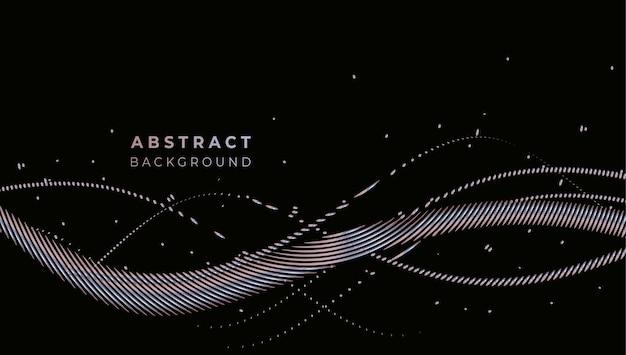 Geometrische formen der abstrakten technologischen förderung banner, strukturmuster-technologiehintergrund.