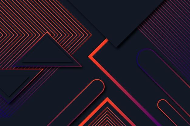 Geometrische formen der steigung auf dunklem hintergrunddesign