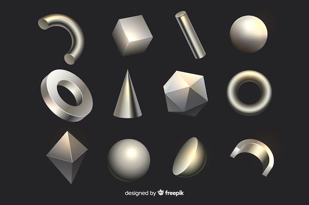 Geometrische formen des effektes 3d