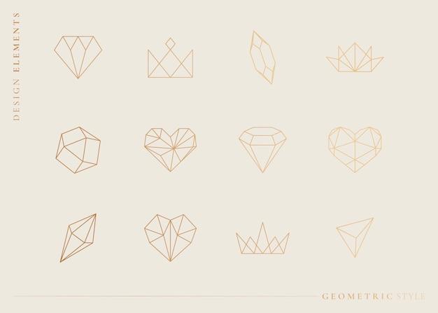 Geometrische formen festgelegt