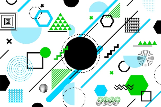 Geometrische formen hintergrund