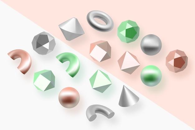 Geometrische formen im 3d-effekt