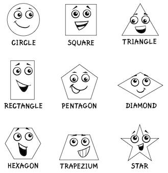 Geometrische formen malbuch