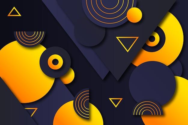 Geometrische formen mit farbverlauf auf dunklem hintergrund