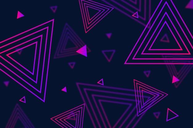 Geometrische formen mit farbverlauf auf dunkler tapete