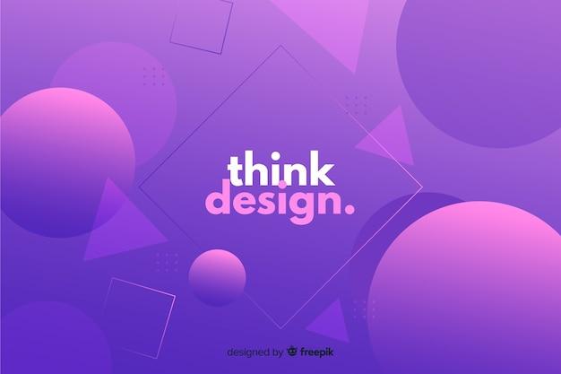 Geometrische formen mit farbverlauf denken an design