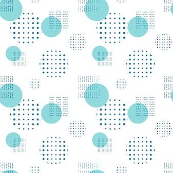 Geometrische formen muster. kreise, punkte und flecken zum dekorieren des hintergrunds oder der verpackung