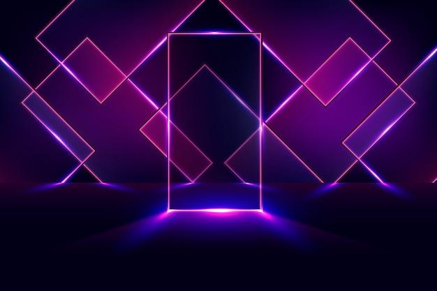 Geometrische formen neonlichter tapete