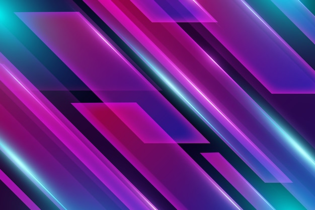 Geometrische formen und neonlichthintergrund