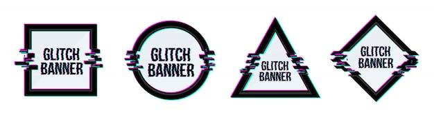 Geometrische glitch-frames festgelegt.