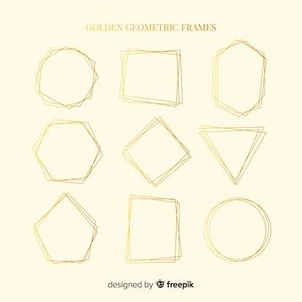 Geometrische goldene rahmensammlung