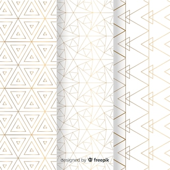Geometrische helle luxusmustersammlung