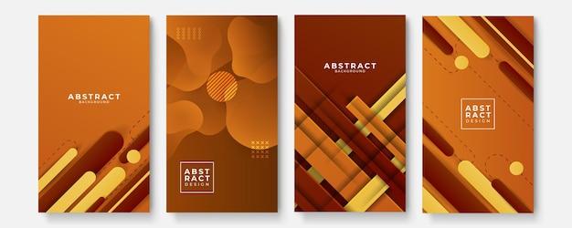 Geometrische hintergründe mit modernen abstrakten farbverlaufsmustern. glatte vorlagensammlung für broschüren, poster, banner, flyer und karten. vektor-illustration.