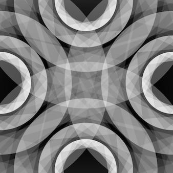 Geometrische hintergrund, graustufen-