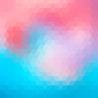 Geometrische hintergrund in blauen und roten tönen