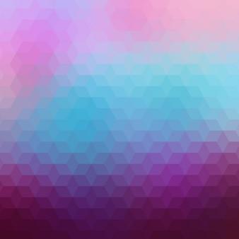 Geometrische hintergrund in lila und blau