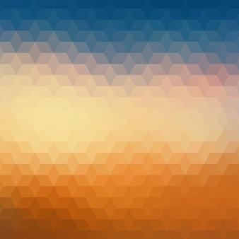 Geometrische hintergrund in orange und blau