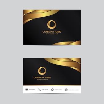 Geometrische Hintergrund Visitenkartenvorlage. Flaches Design.