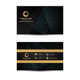 Geometrische Hintergrund Visitenkartenvorlage.