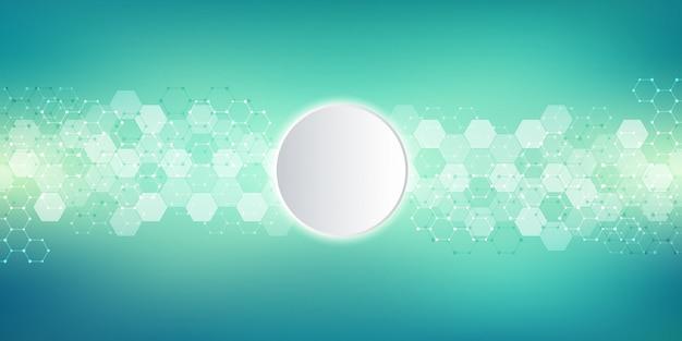 Geometrische hintergrundbeschaffenheit mit molekülstrukturen und verfahrenstechnik.