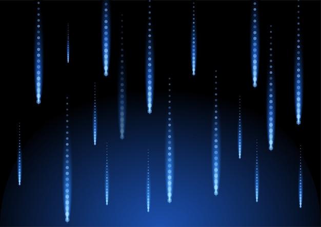 Geometrische illustration des blauen formhintergrundraumes des regens des schwarzen raumes