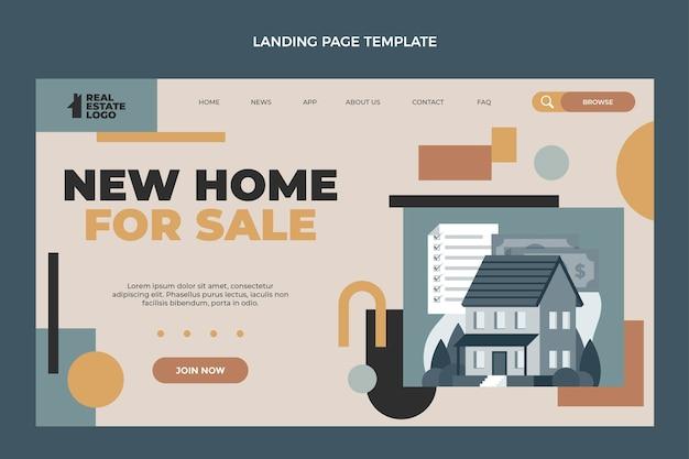 Geometrische immobilien-landingpage-vorlage