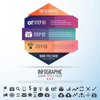 Geometrische infografiken vorlage design