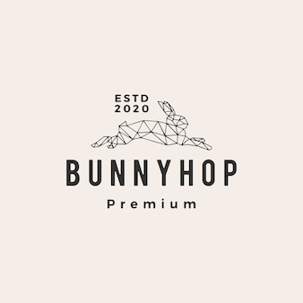 Geometrische kaninchenhase hopfen hipster vintage logo symbol illustration