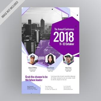 Geometrische konferenzveranstaltungsbroschüre