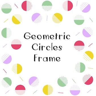Geometrische kreise rahmen