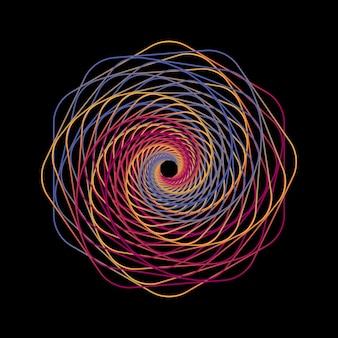 Geometrische linie kunstrahmen im schwarzen hintergrund