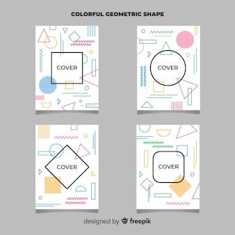 Geometrische linien broschüre gesetzt