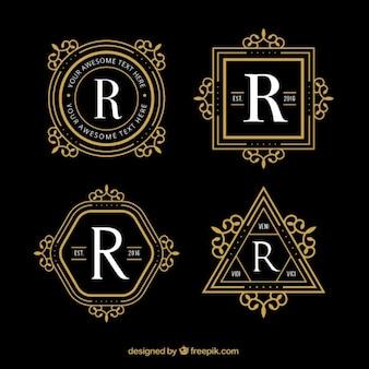 Geometrische luxus logos