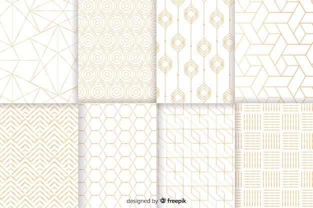 Geometrische luxusmustersammlung