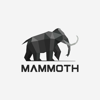 Geometrische mammut-logo-entwurfsschablone