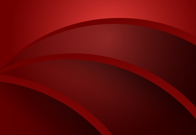 Geometrische materielle auslegung der roten und schwarzen abstrakten kurve