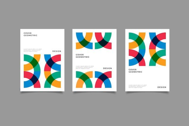 Geometrische memphis-cover-kollektion