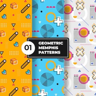 Geometrische memphis-mustersammlung