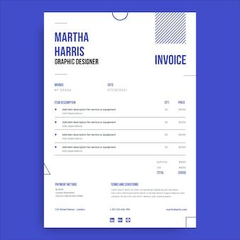 Geometrische minimalistische designerrechnung