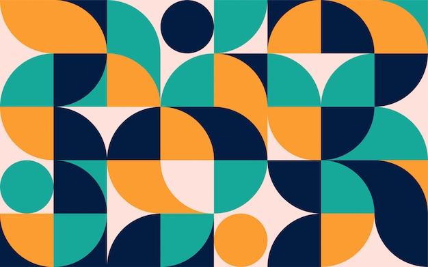 Geometrische minimalistische farbkompositionsschablone mit formen. skandinavisches abstraktes muster für web-banner, verpackung, branding.