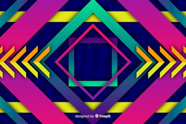 Geometrische modelle hintergrund mit farbverlauf