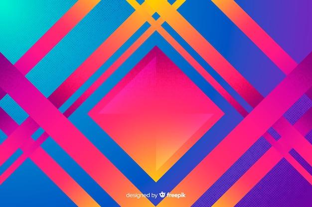 Geometrische modelle mit farbverlauf hintergrund