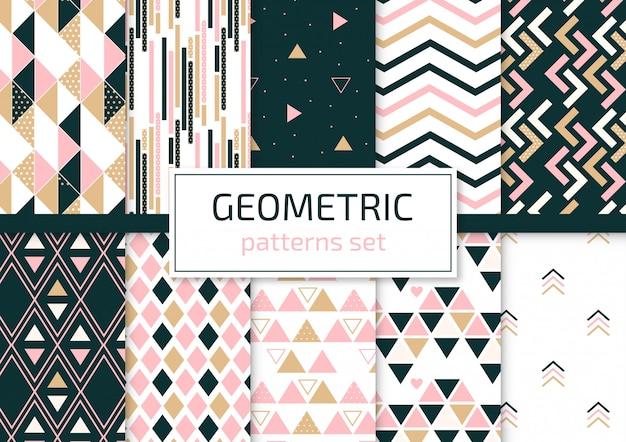 Geometrische muster festgelegt