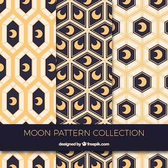 Geometrische muster mit dekorativen monden