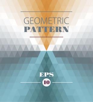 Geometrische muster mit dreiecken